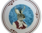Jackie the Jackalope Portrait Plate 6.75""