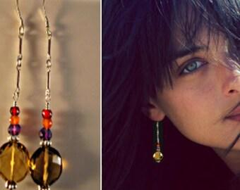 Silver Gemstone Earrings,dangle earrings,drop earrings,silver earrings,gemstone earrings,amethyst earrings,garnet earrings,carnelian earring