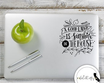 Typography Vinyl Decal, Laptop Decal, Laptop Sticker, Car Window Decal, Inspirational Decal, Quote Decal