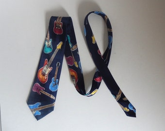 Vintage Men's Electric Guitar Polyester Necktie / Tie by A. Rogers