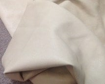 PREM566. Mushroom Color Embossed Leather Lambskin Hide