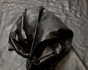 PREM468.  Black Leather Cowhides