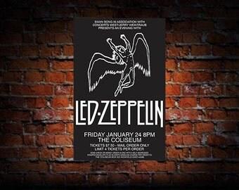 Led Zeppelin 1975 Cleveland Concert Poster