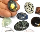 Grooved Gemstone Cabochons, Grooved Stones, Natural Cabs, Groove, Macrame Supply, Grooving Service - 24.2-35.0 mm - 338.3 ct - 160311-14