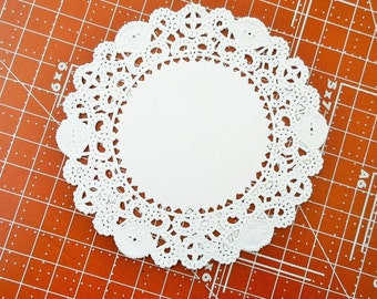 Paper Doilies 4 inch White Set of 25