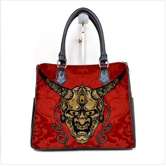 Gold Hanya Mask Barrel Style Hand Bag