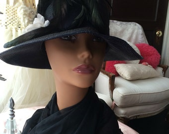 Stunning Cloche Hat With Feathers