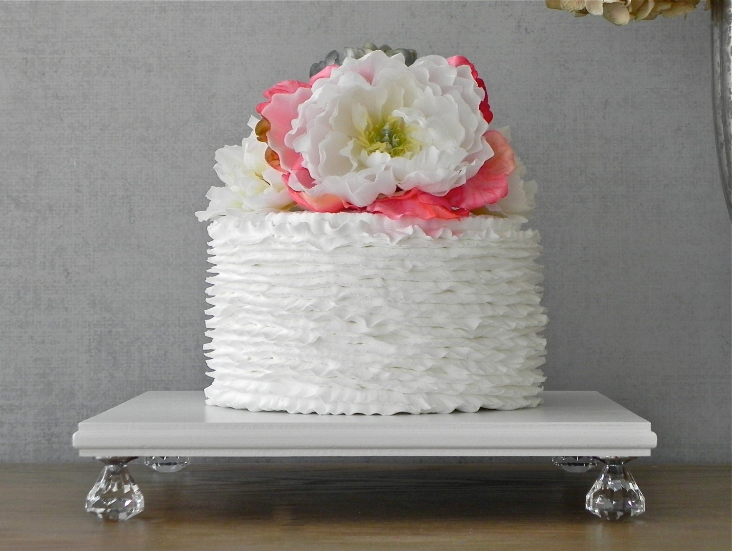 18 inch square wedding cake stand 18 inch cake stand cupcake white wooden bling wedding 10076