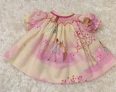 """15 inch Doll Smocked Bishop Dress Sarah Jane """"Wee Wander in the Woods""""   Ready to ship"""