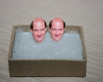 The Office Kevin Malone Stud Face Earrings Celebrity Inspired Jewelry