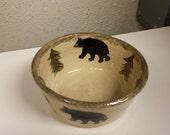 Special order black bear bowl