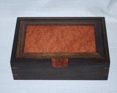Handcrafted Wenge & Redwood Burl Watch box