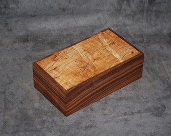 Fantastically Figured Walnut & Spalted Maple jewelry Box