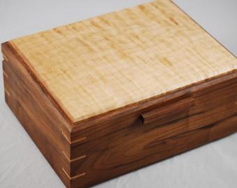 Watch Box -Quilted Maple & Figured Walnut