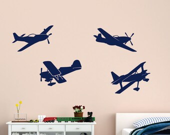 Airplane Wall Decals Plane Wall Decals Planes And Clouds D - Vinyl wall decals airplane