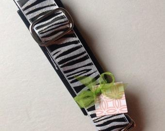 Zebra Print Adjustable Violin Case Instrument Strap with Shoulders Pad by Cheryls Bowtique, viola, guitar, music, luggage