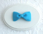 """3"""" Turquoise Hair Bow, Easter Hair Bow, Toddler Bow, Simple Turquoise Blue Bow, Girls Hair Bows, Bowtie Hair Bow, Baby Bows"""