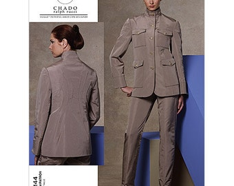 Vogue Separates Pattern V1144 by CHADO Ralph Rucci - Misses' Military Style Jacket and Pants - Vogue American Designer Series - Sz 6/8/10/12