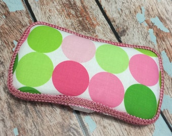 Pink Dot Travel Wipe Case Baby Wipe Case Ready to Ship