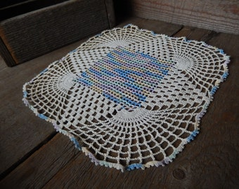 Vintage Doily Cottage Handmade Pastels Crochet Home Decor Romantic Country Living AMarigoldLife