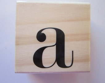 rubber stamp - letter A monogram - 1.5 inches