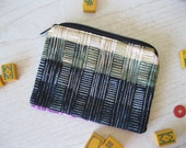 Quilted lined zipper purse - Mah Jongg