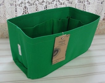 Fits Neverfull MM /Purse insert Organizer Shaper / 12 x 6 x 6H / Kelly Green / Sturdy & Durable/With stiff wipe-clean bottom / Ready to ship