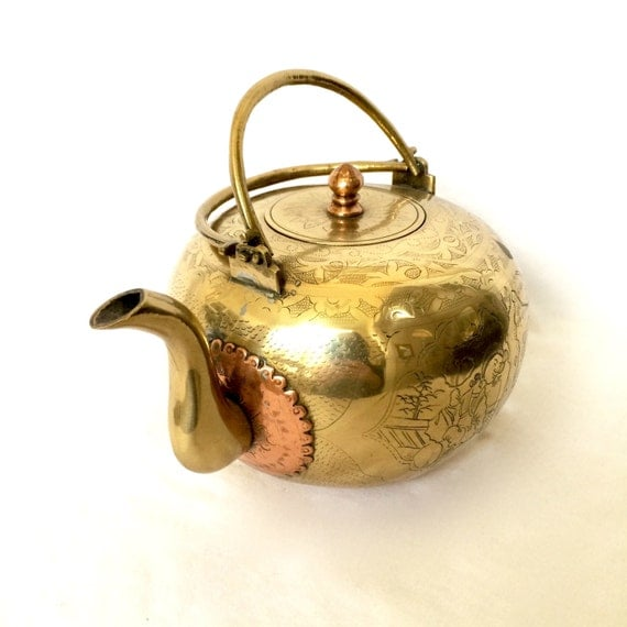 Vintage Copper Teapot 83