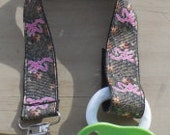 Pacifier Holder, Pink Browning Camouflage Ribbon Pacifier Holder or Clip, Camouflage Pacifier Holder, Binky Clip, Browning Toy Clip