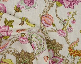 Malawi Hibiscus Jacobean Floral Fabric
