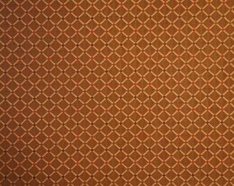 Diamond Trellis Woven Bronze Upholstery Fabric