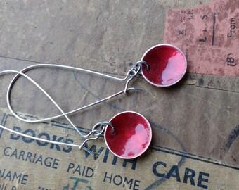 Copper dome resin earrings by Wocky jewellery
