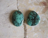 Green Turquoise Cabochon, 80 Carat,TC1845, 2 pcs, Gemstone Cabochon