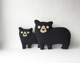the Cub - woolen bear pillow - MADE TO ORDER