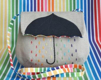 Mini-handbag Rainbow umbrella (beige)