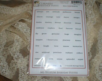 Cornish Heritage Farms EVERYDAY PETITES Rubber Stamps New in pkg & Un-mounted Beautiful 2008 Retired
