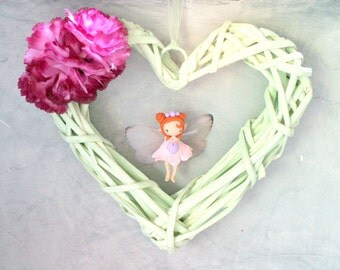 Spring Fairy Heart Wreath
