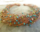 Colorful Garden - Linen Necklace