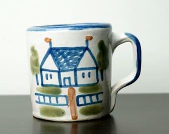 Stoneware Mug Louisville Pottery Vintage Coffee Cup Teddy
