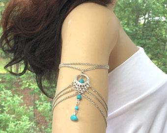 Turquoise Navajo Bracelet, Tibetan Turquoise Bracelet, Navajo Turquoise Cuff, Navajo Turquoise Bracelet