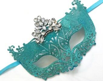 Blue Mask, Teal Mask, Aqua Mask, Turquoise Mask
