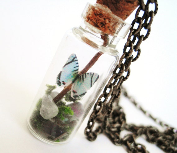 Butterfly Terrarium Necklace