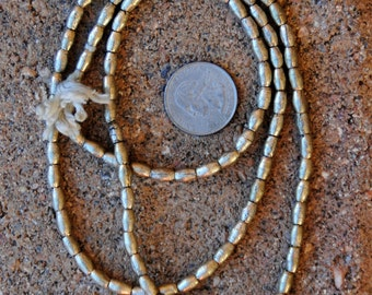 African Silver Beads: (4x7mm)