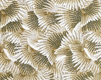 Pheasant Gray Feathers - Quilting Treasures - Half Yard