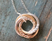 Rose gold mom jewelry for her, names necklace rose gold necklace names, personalized grandparent gifts for mom necklace - Lilia