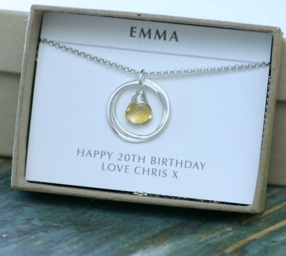20th birthday gift for girlfriend anniversary necklace for for Best friend anniversary gift ideas