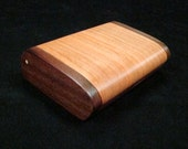 Black Walnut and Cherry Wood Pick Box