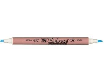 Zig EMBOSS Pen SCROLL & BRUSH Twin Tip Marker Embossing Clear tc-5100