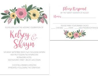 PRINTABLE Floral Wedding Suite