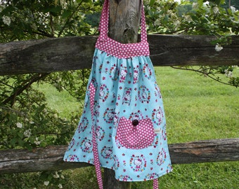 Kids Apron, Girls Apron, Hello Kitty Apron, Toddler Apron, Retro Kids Apron, Handmade 12M-4T